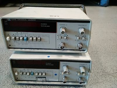 Pair of HP frequency counters