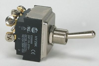 POWER FIRST 2VLT3 Toggle Switch, 3PST, 6 Conn., Maint. On/Off