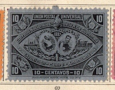 Guatemala 1897 Early Issue Fine Mint Hinged 10c. 094900