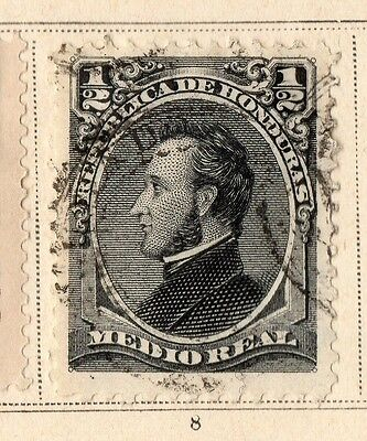 Guatemala 1878 Early Issue Fine Used 1/2r. 094912