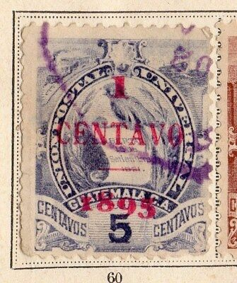Guatemala 18984-95Early Issue Fine Used 1c. Surcharged 094917