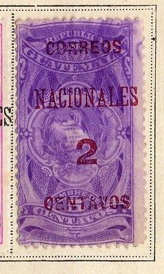 Guatemala 1898 Early Issue Fine Mint Hinged 2c. Surcharged 094924