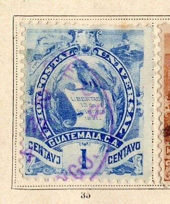 Guatemala 1886 Early Issue Fine Used 1c. 094931
