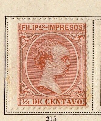 Philippines 1894 Early Issue Fine Mint Hinged 1/2c. 094947