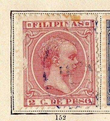 Philippines 1890 Early Issue Fine Used 2c. 094959