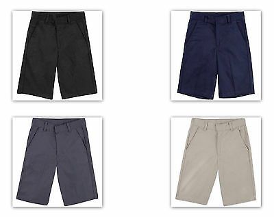 George Boys' School Uniforms, Flat Front Short NAVY BEIGE BLACK GREY