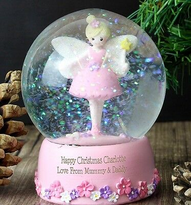 fairy snow globe PERSONALISED, first christmas, birthday, lovely gift