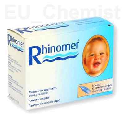 Nose Nasal Additional Filters Tips Rhinomer Baby Clear nasal congestion x 10