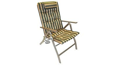 Coleman 5 Position Padded Steel Arm Chair for Holiday and Camping Trips