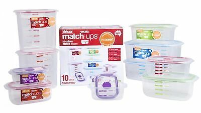 Decor Match-Ups Realseal 10-Piece Assorted Container Set