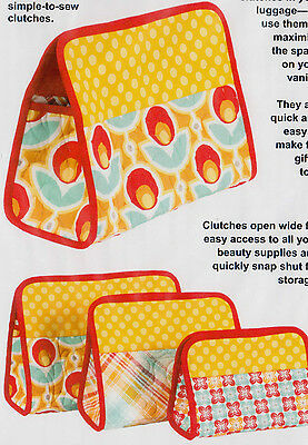 PATTERN - Cosmetic Clutches - handy bags PATTERN - Patterns by Annie