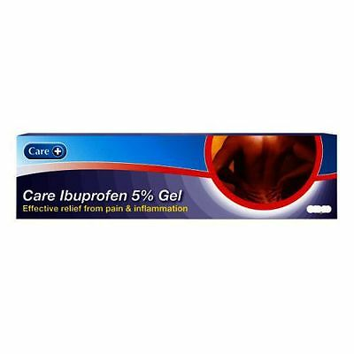 Care Ibuprofen Gel 5% - Effective Relief From Pain & Inflammation  - 100g x2