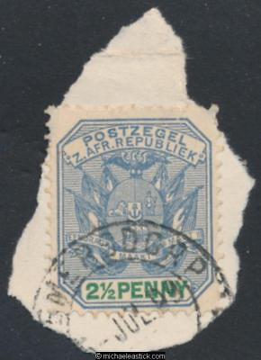 Swaziland SG Z32, 2½d on Transvaal, Bremersdorp, 05-07-1899