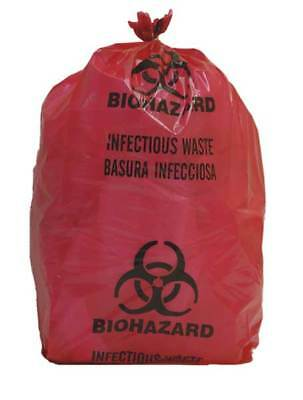 Biohazard Bag, Red, 5 gal., PK200, 3UAF4