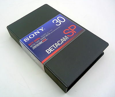 Sony Betacam Sp Metal 30 Min Tape Beta Professional  Bct-30Ma