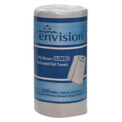 GEORGIA-PACIFIC 28290 Paper Towel Roll, Envision, 250CT, PK12