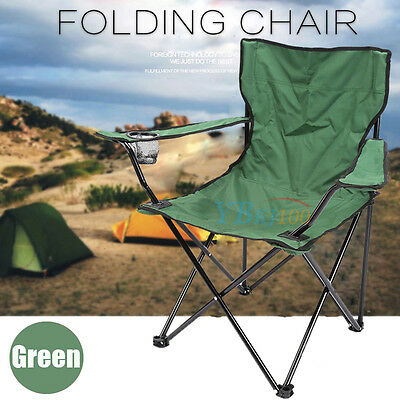 2X Folding Outdoor Travel Camping Fishing Beach Seat Arm Camp Picnic Chair Red