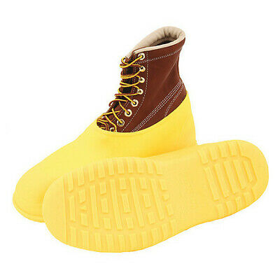 Workbrutes Overshoes, Mens, L, Pull On, Yellow, PVC, PR TINGLEY 35113
