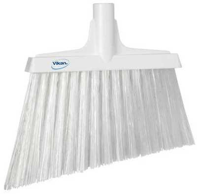 "Vikan White 11-3/8"" PET Angle Broom, 29145"