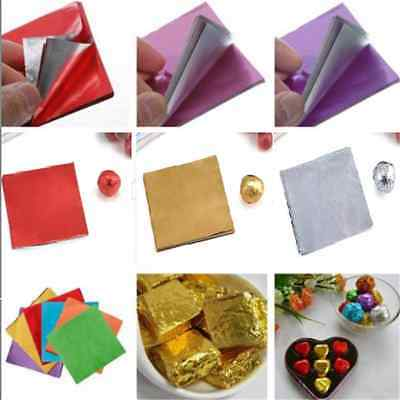 8*8cm 100PCS Square Candy Sweets Chocolate lolly Foil Wrappers Confectionary FT