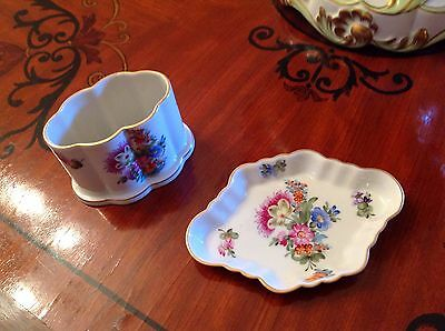 Herend porcelain from Hungary antiques, small  tray, toothpick/cigarette holder