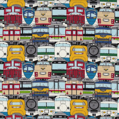 Bullet Trains Fast Trains Mens Boys Quilt Fabric FQ or Metre *New*