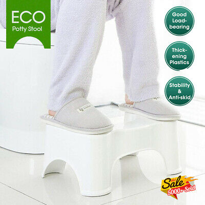 SIT AND SQUAT SQUATTY POTTY ECO TOILET STOOL HEALTHY COLON White AU STOCK