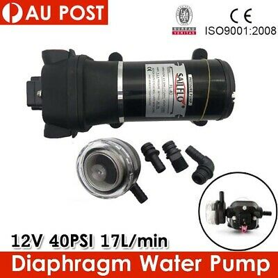 12V DC Water Pump Caravan Camping High Pressure 40PSI 17L/min 4.5GPM New Brand