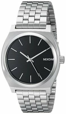 Nixon Men's The Time Teller Black Dial Stainless Steel Bracelet Watch A045000