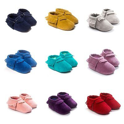 Baby Kids Soft Sole zapatos de bebé Boys Girls Toddler Suede Crib Shoes 0-18M