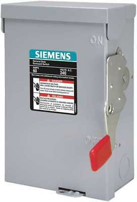 Siemens 60 Amp 240VAC Single Throw AC Disconnect Switch 2P, LNF222R