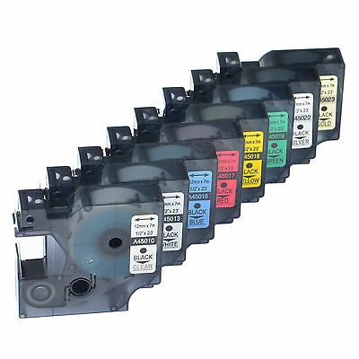 Great Quality Label Tape Cassettes for Dymo D1 Label Manager Printer 12mm x 7m
