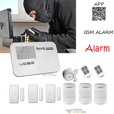 Wireless WIFI Wireless Burglar Alarm Remote APP GSM Anti-Theft Security System