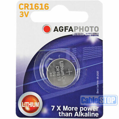 AGFA CR1616 3V Lithium Button Battery Coin Cell DL1616 for Car Key Fobs