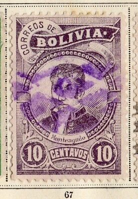 Bolivia 1897 Early Issue Fine Used 10c. 095257
