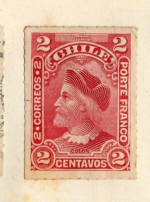 Chili 1883 Early Issue Fine Mint Hinged 2c. 095284