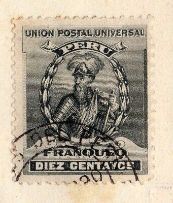 Peru 1899 Early Issue Fine Used 5c. 095312