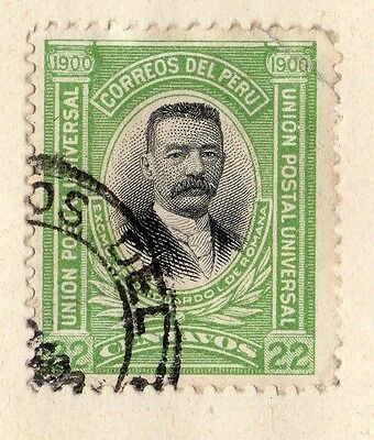 Peru 1899 Early Issue Fine Used 22c. 095313