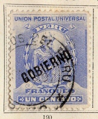 Peru 1896 Early Issue Fine Used 1c. 095322