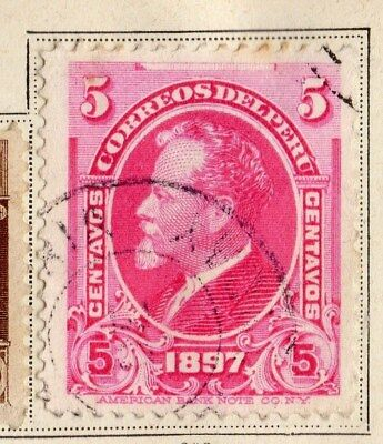 Peru 1897 Early Issue Fine Used 5c. 095336
