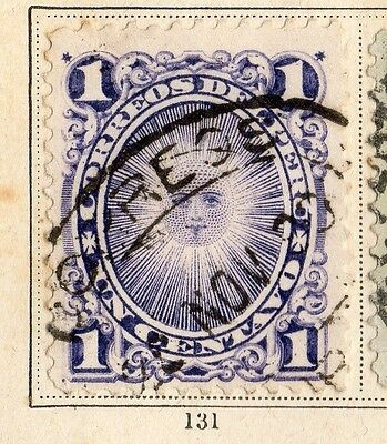 Peru 1896 Early Issue Fine Used 1c. 095341