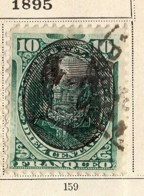 Peru 1895 Early Issue Fine Used 10c. Optd 095352