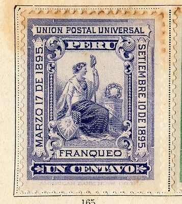 Peru 1895 Early Issue Fine Mint Hinged 1c. 095353