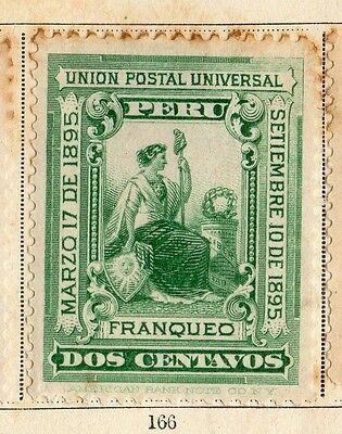 Peru 1895 Early Issue Fine Mint Hinged 2c. 095354