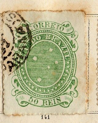 Brazil 1890 Early Issue Fine Used 50r. 095382
