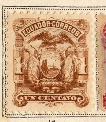 Ecuador 1881 Early Issue Fine Mint Hinged 1c. 095502