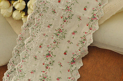 45 x 11 cm Cotton lace trim, Lovely Embroidery, Skirt making for Bear