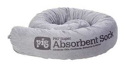 NEW PIG PIG210 Absorbent Sock, Gray, 24 gal., PK24