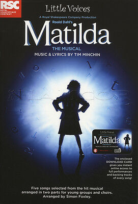Little Voices Matilda Sheet Music Book with Audio Vocal Musical Tim Minchin