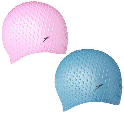 023618 SPEEDO Adult Swimming Bubble Cap Insulated Silicone - Pink or Blue